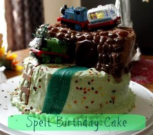 spelt birthday cake