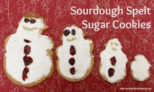 sourdough spelt snowmen
