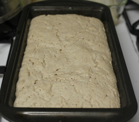 risen bread batter