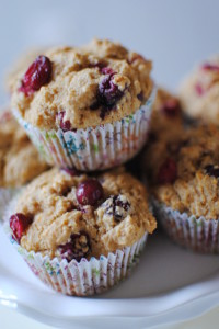Whole Wheat Cranberry Orange Muffins