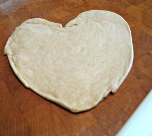 Matzah dough heart