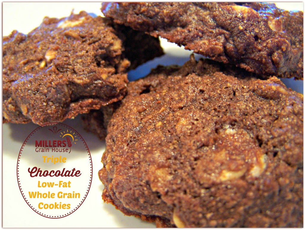 Triple Choclolate, Low-Fat, Whole Grain Cookies