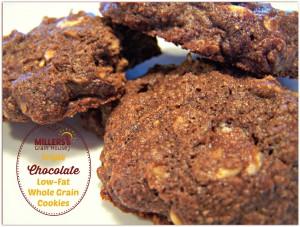 Triple Choclolate, Low-Fat, Whole Grain Cookies