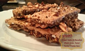 Peanut Butter chocolate Whole grain power packed protein bars