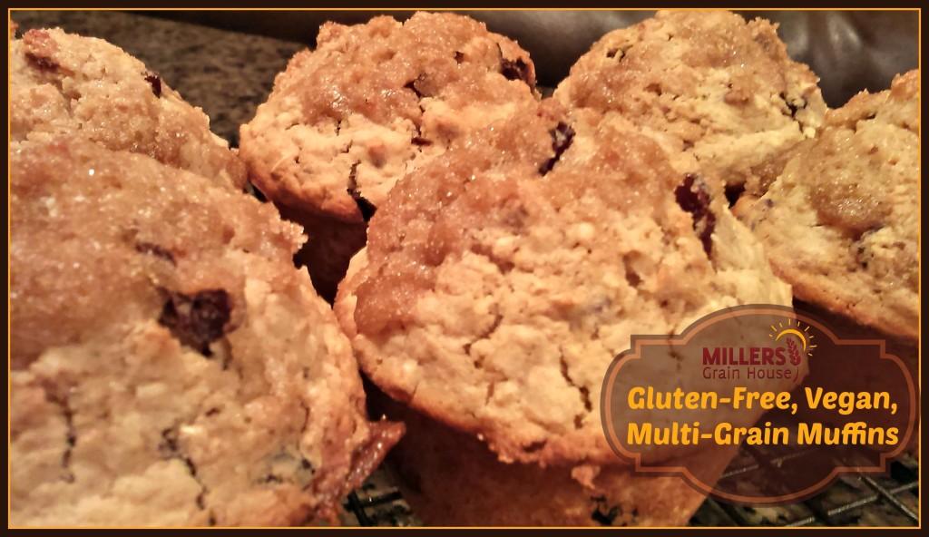 gluten free vegan multi grain muffins